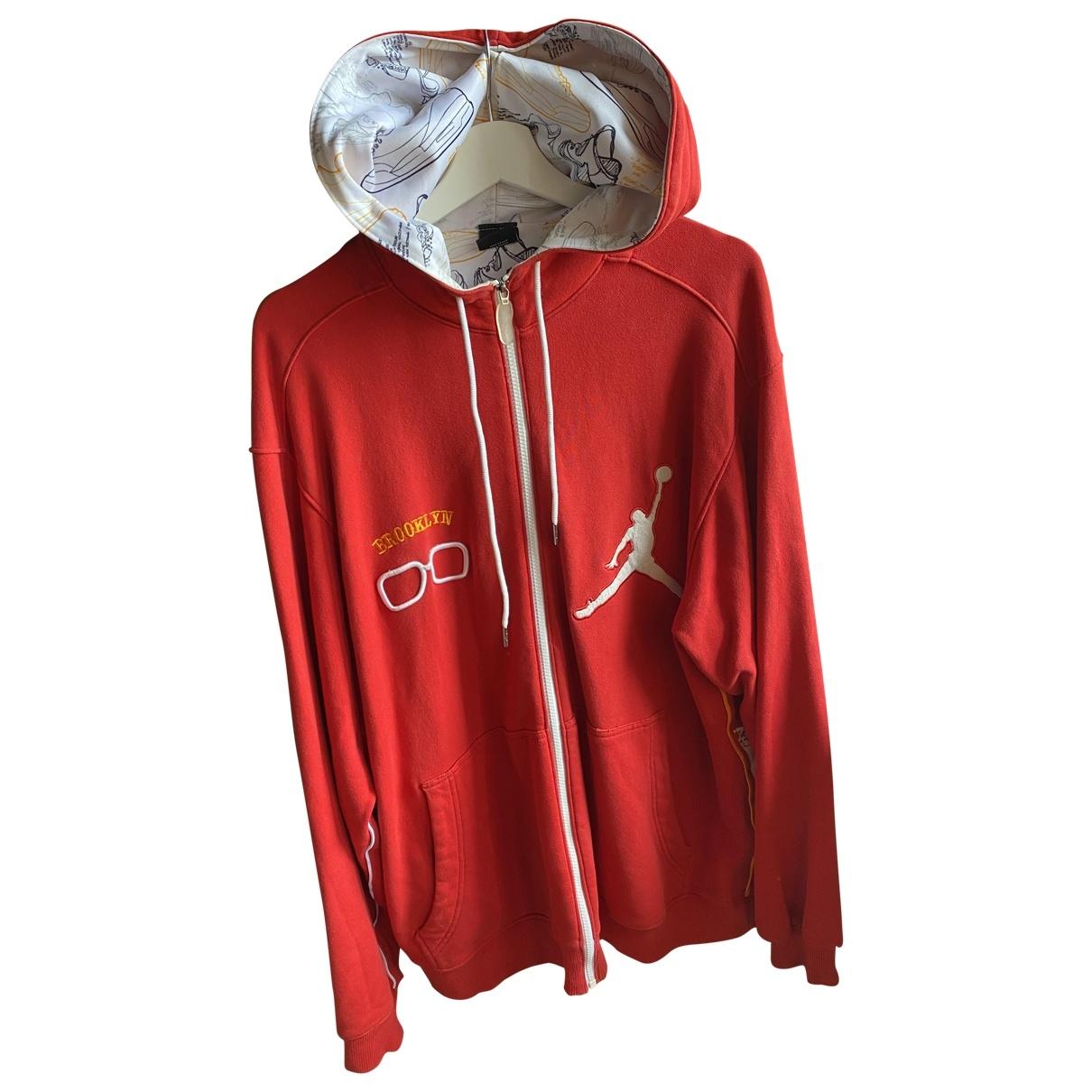 Jordan \N Pullover.Westen.Sweatshirts  in  Rot Baumwolle
