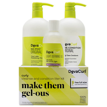 DevaCurl Make Them Gel-ous Curly Cleanse & Condition Liter Kit, One Size , Multiple Colors