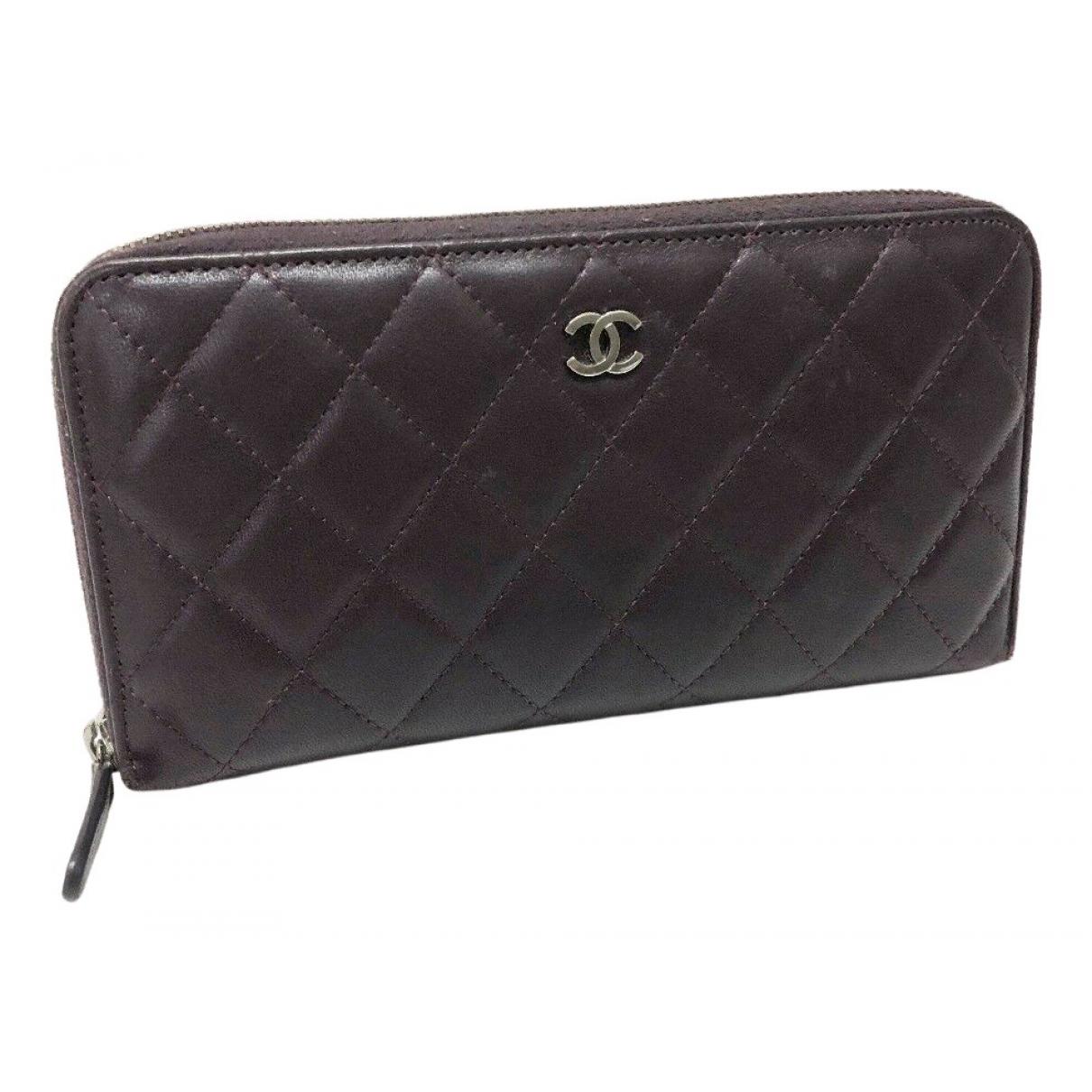 Chanel - Portefeuille Timeless/Classique pour femme en cuir - marron