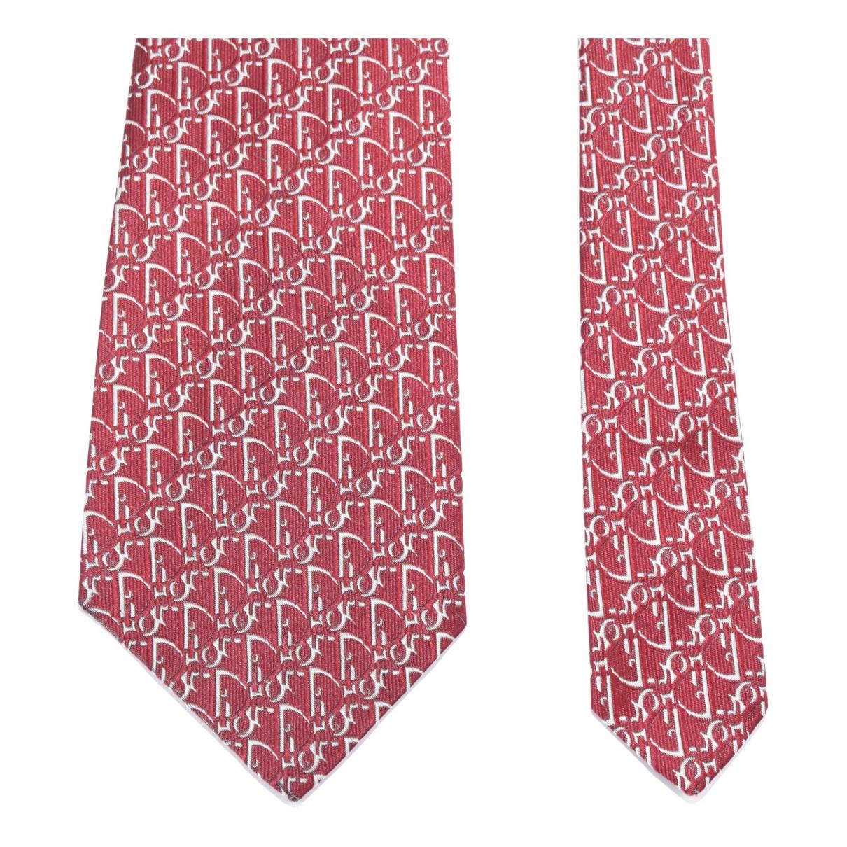 Dior Homme - Cravates   pour homme en soie - bordeaux