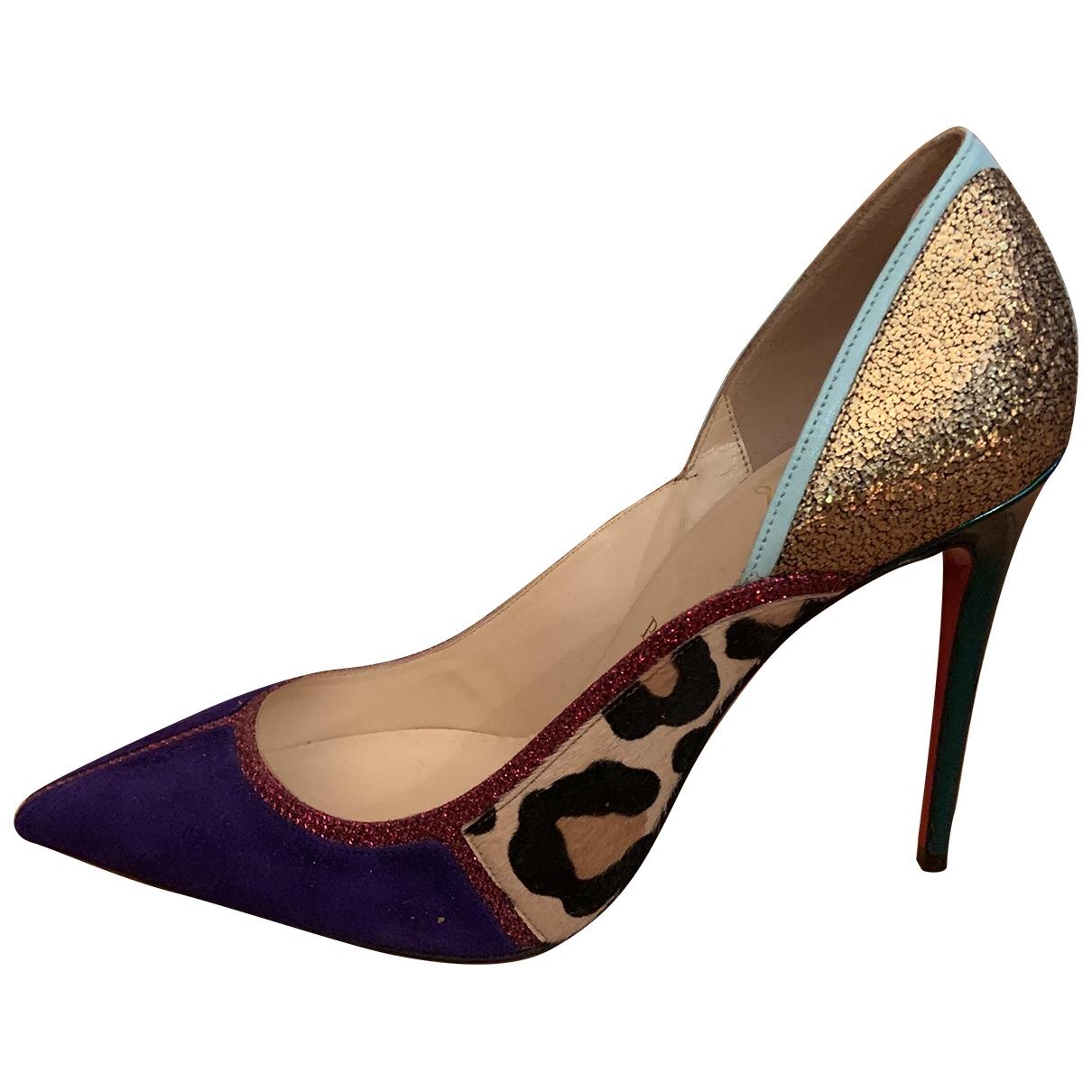 Christian Louboutin \N Multicolour Suede Heels for Women 37.5 EU