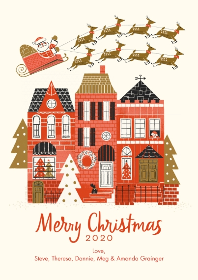Christmas Flat Matte Photo Paper Cards with Envelopes, 5x7, Card & Stationery -Santa's Sleigh Christmas Wishes by Hallmark