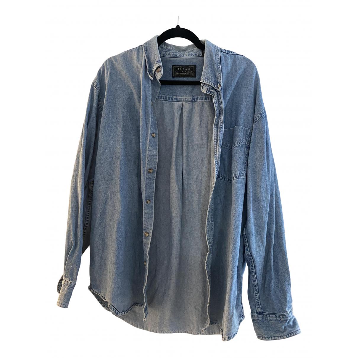 - Chemises   pour homme en denim - bleu