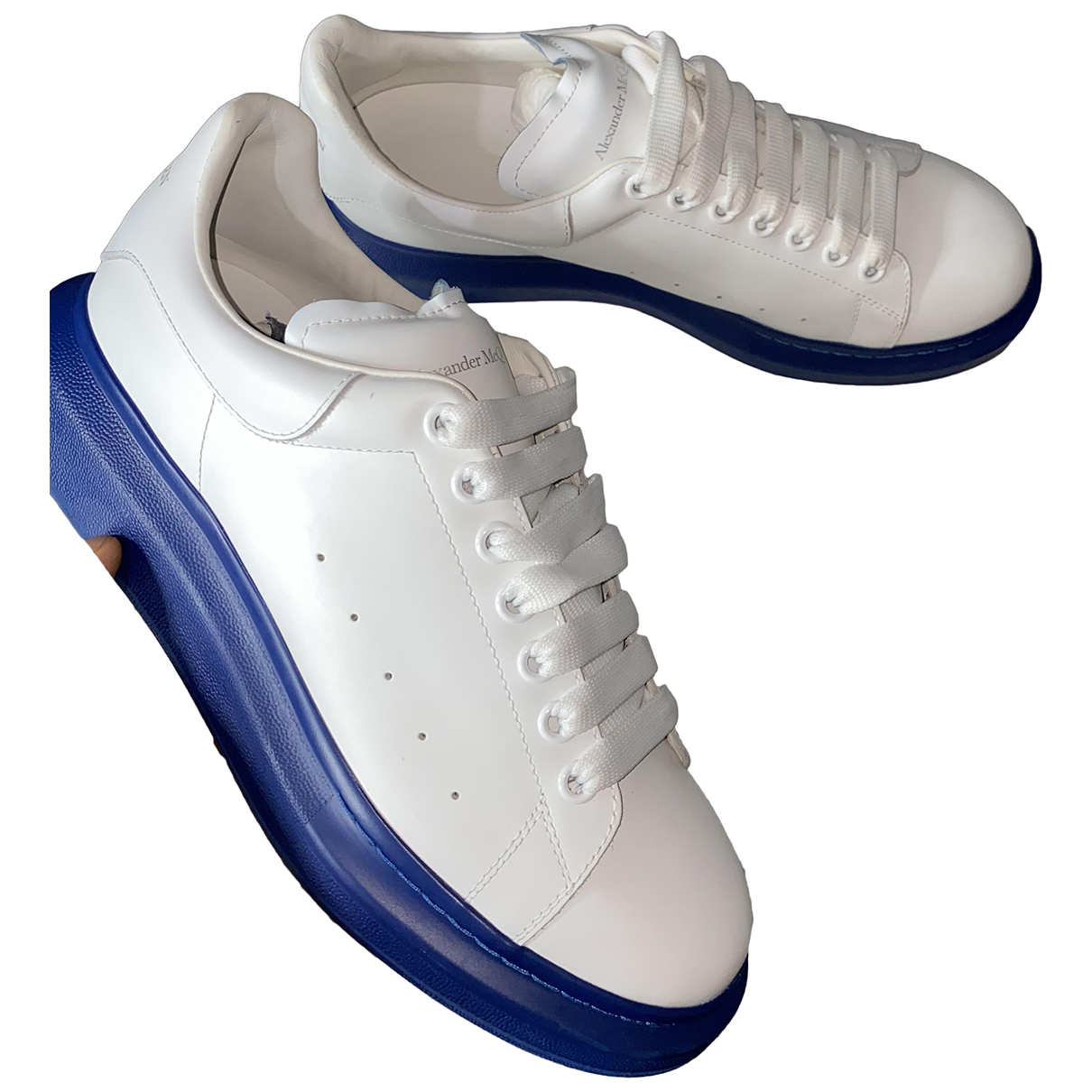 Alexander Mcqueen Oversize White Leather Trainers for Men 10 UK