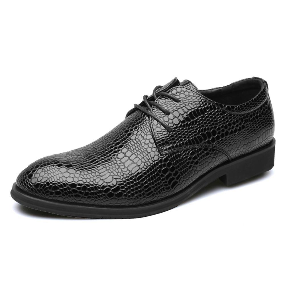 Crocodile Pattern Business Casual Dress Shoes