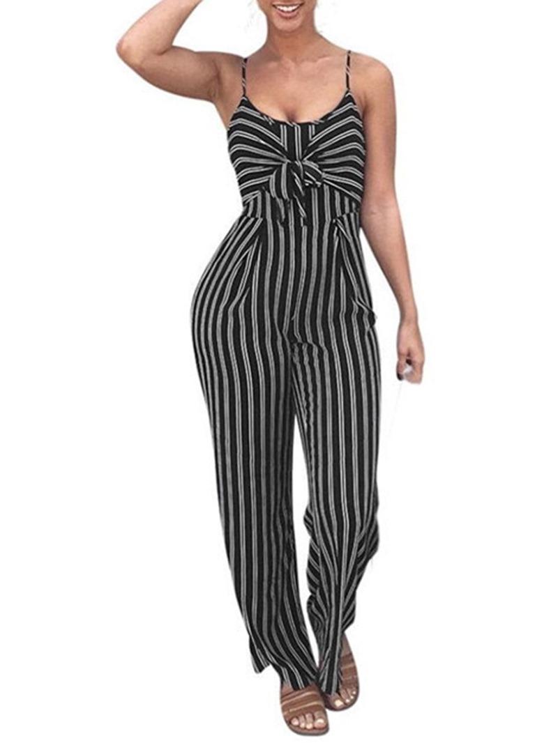 Ericdress Print Full Length Sexy Jumpsuit