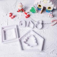 8 Stuecke Keksform mit Weihnachten Design
