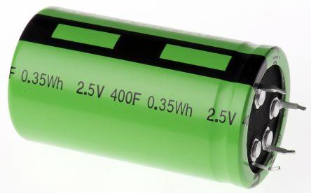 Eaton Bussmann Series 400F Supercapacitor EDLC ±10% Tolerance, Supercap XB 2.5V dc, Through Hole