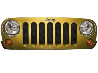 Drake Off Road JP-190010-BK JEEP JK MESH GRILLE BLACK Jeep Wrangler 2007-2016