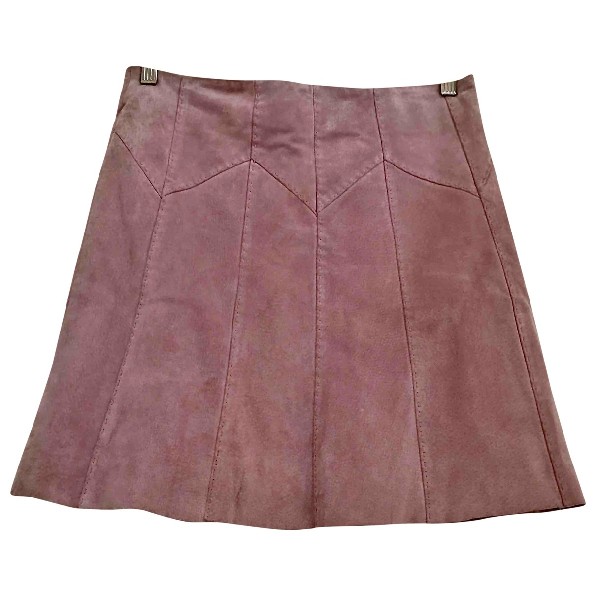 Non Signé / Unsigned \N Pink Suede skirt for Women 10 UK
