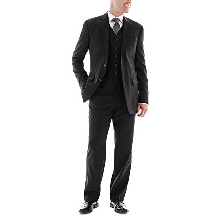 Stafford Executive Super 100 Wool Suit Jacket - Classic, 36 Regular, Black