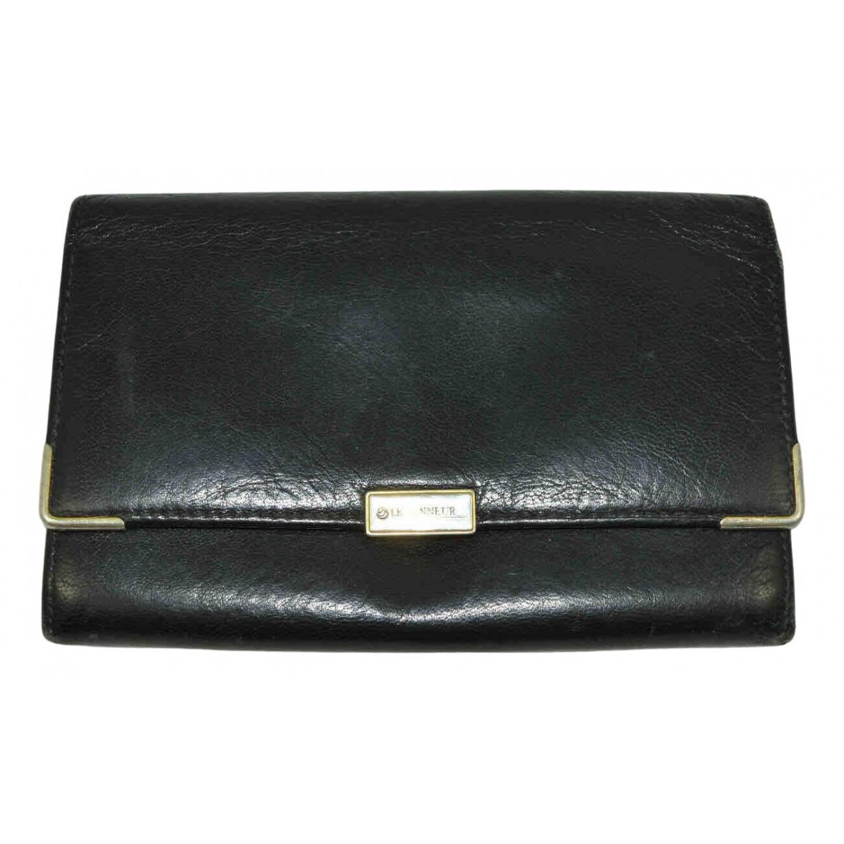Le Tanneur - Portefeuille   pour femme en cuir - noir