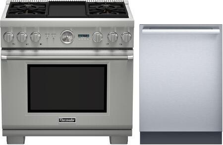 2 Piece Kitchen Appliances Package With PRD364JDGU 36