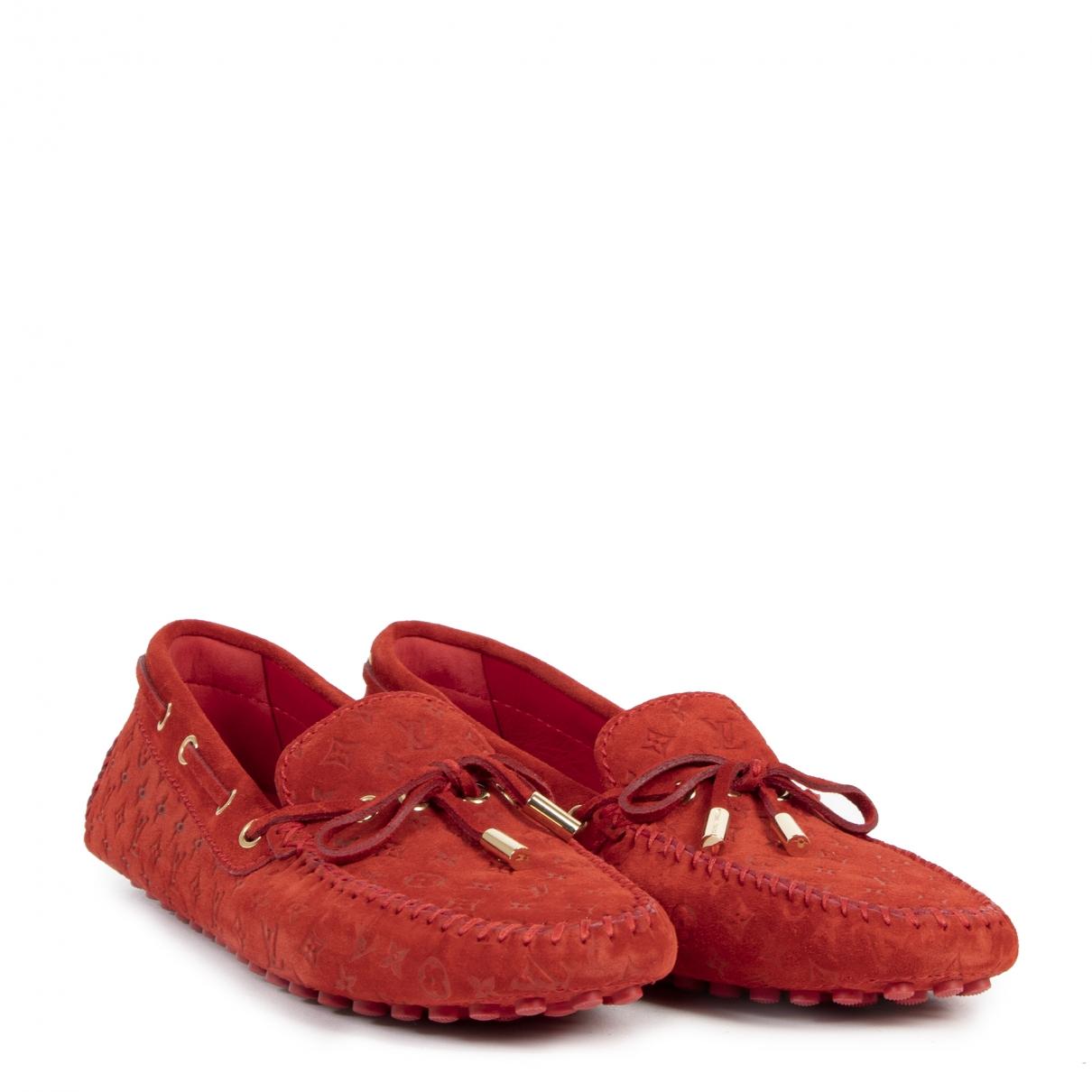 Louis Vuitton \N Red Suede Flats for Women 40 EU