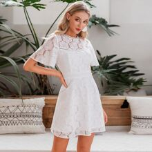 Open Back Lace A-line Dress