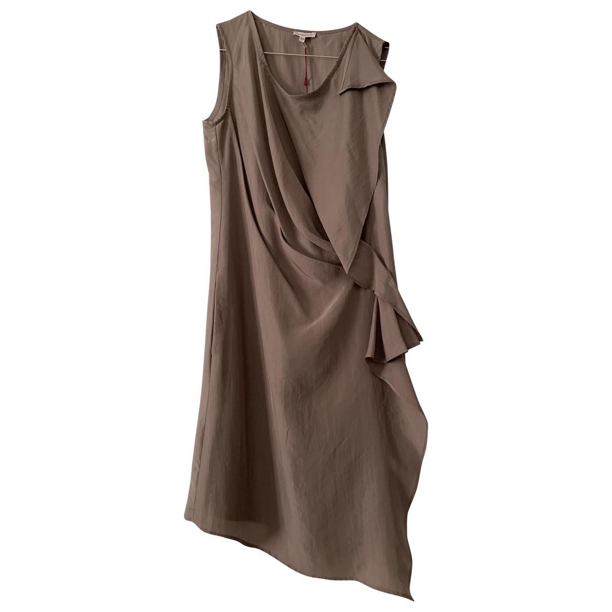 Parosh - Robe   pour femme en soie - kaki