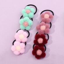 8 piezas goma de pelo de niñitas con diseño de flor
