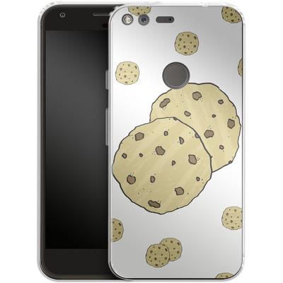 Google Pixel XL Silikon Handyhuelle - Cookies von caseable Designs