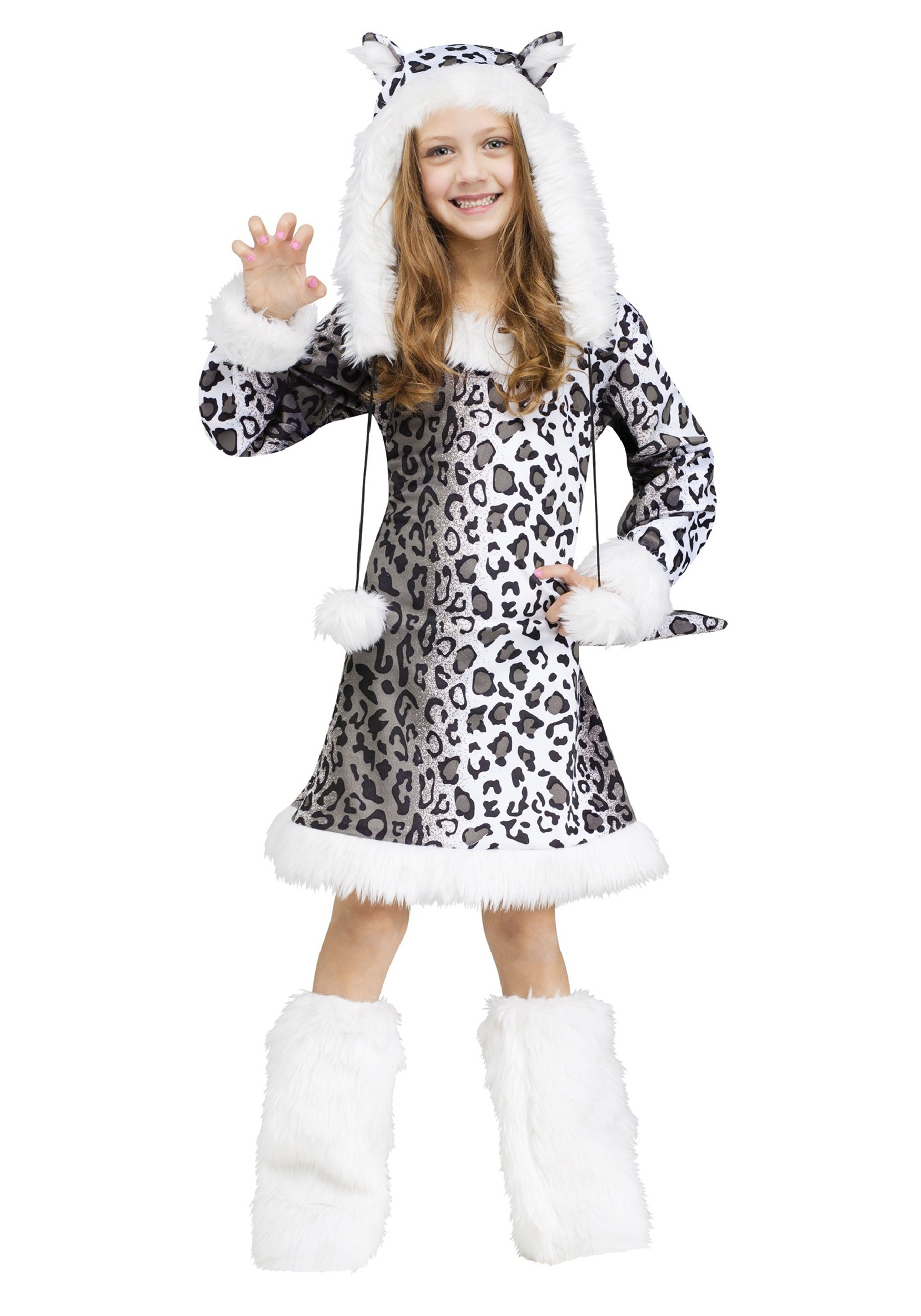 Snow Leopard Costume for Girls
