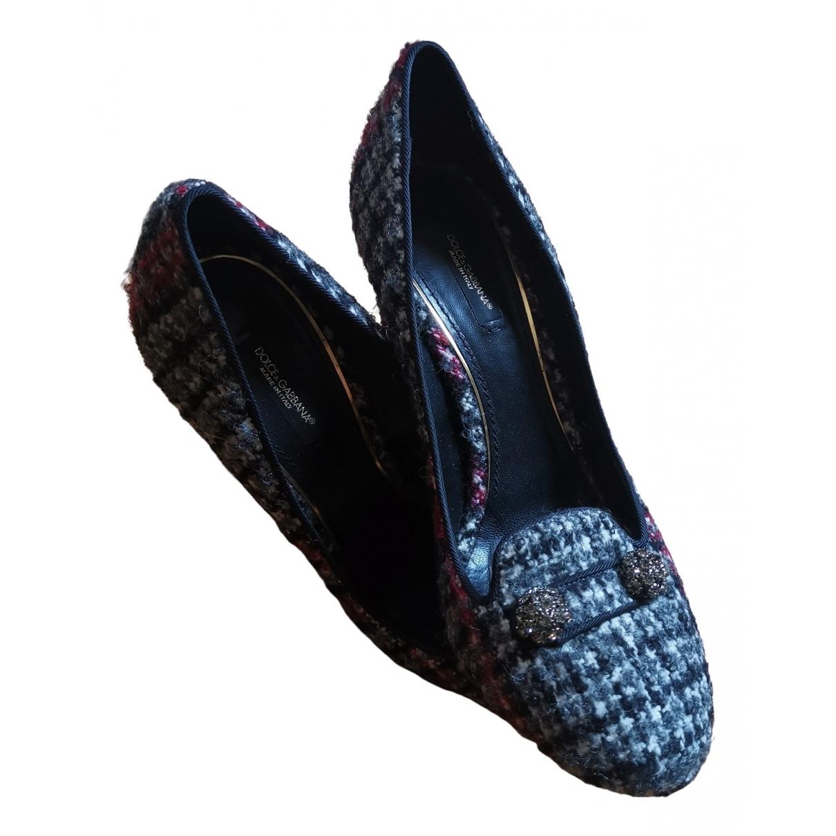 Dolce & Gabbana - Escarpins   pour femme en tweed - multicolore