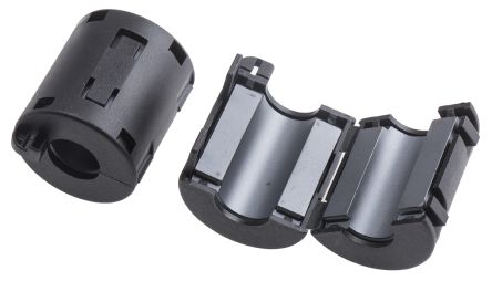 RS PRO Openable Ferrite Clamp, 23.5 x 36 x 22.5mm, For Computer Peripherals, Digital TV, Internal & External Power (2)