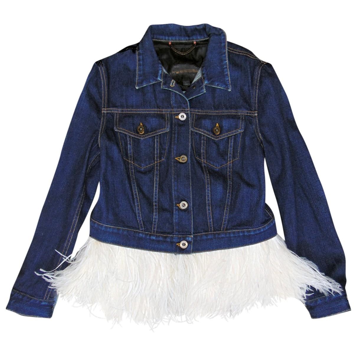 Burberry - Veste   pour femme en denim - bleu