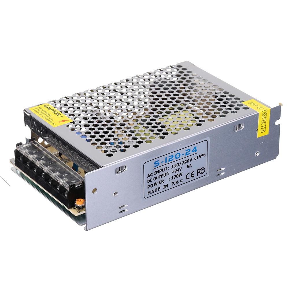 AC110V-240V to DC24V 5A 120W Switching Power Supply 158*98*42mm