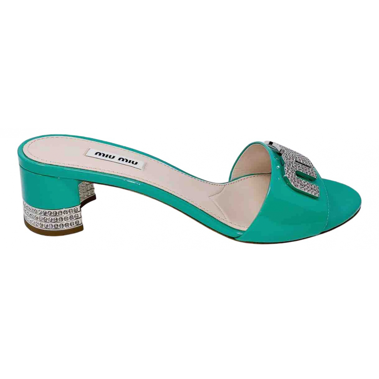 Miu Miu \N Green Patent leather Sandals for Women 41 IT