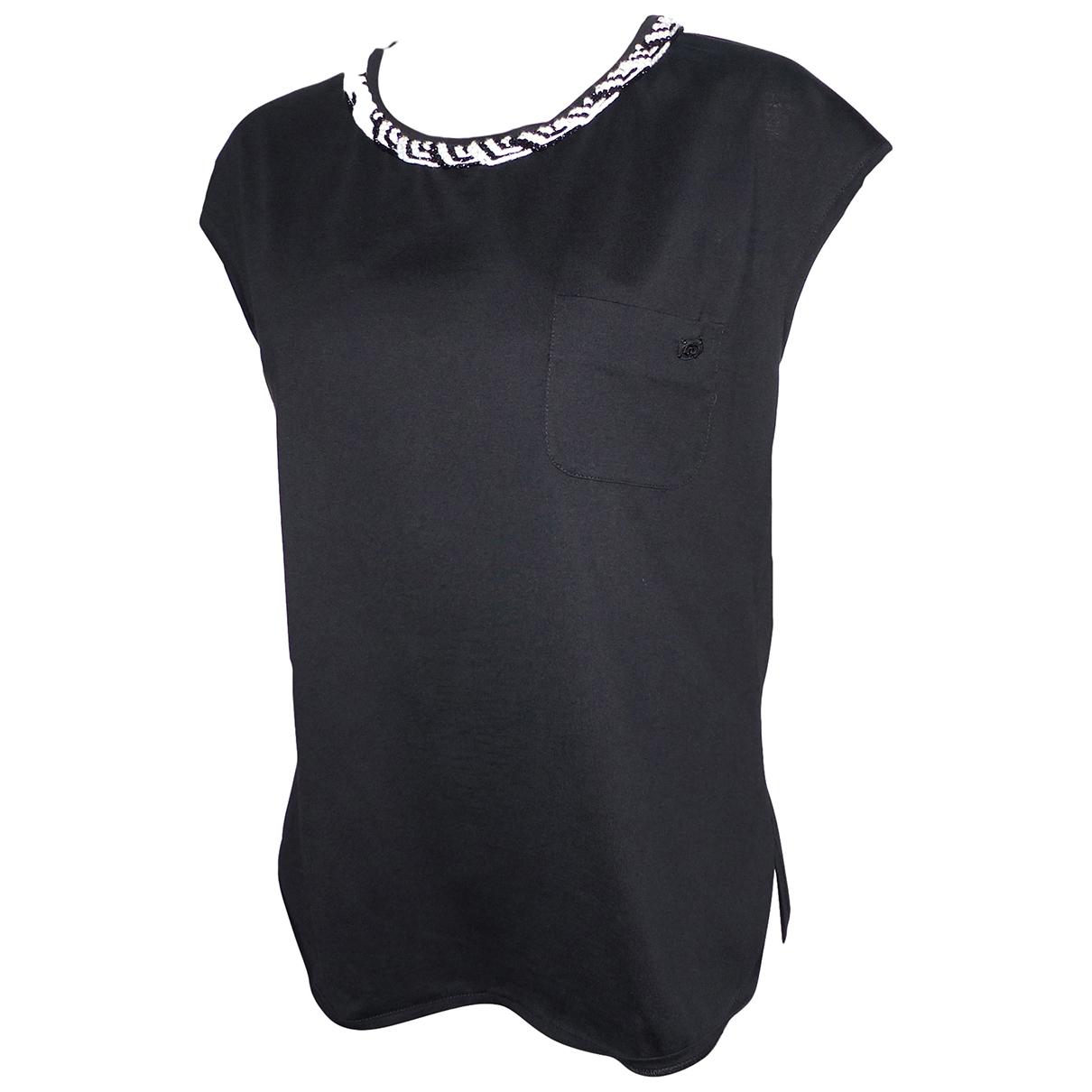 Chanel - Top   pour femme en coton - noir