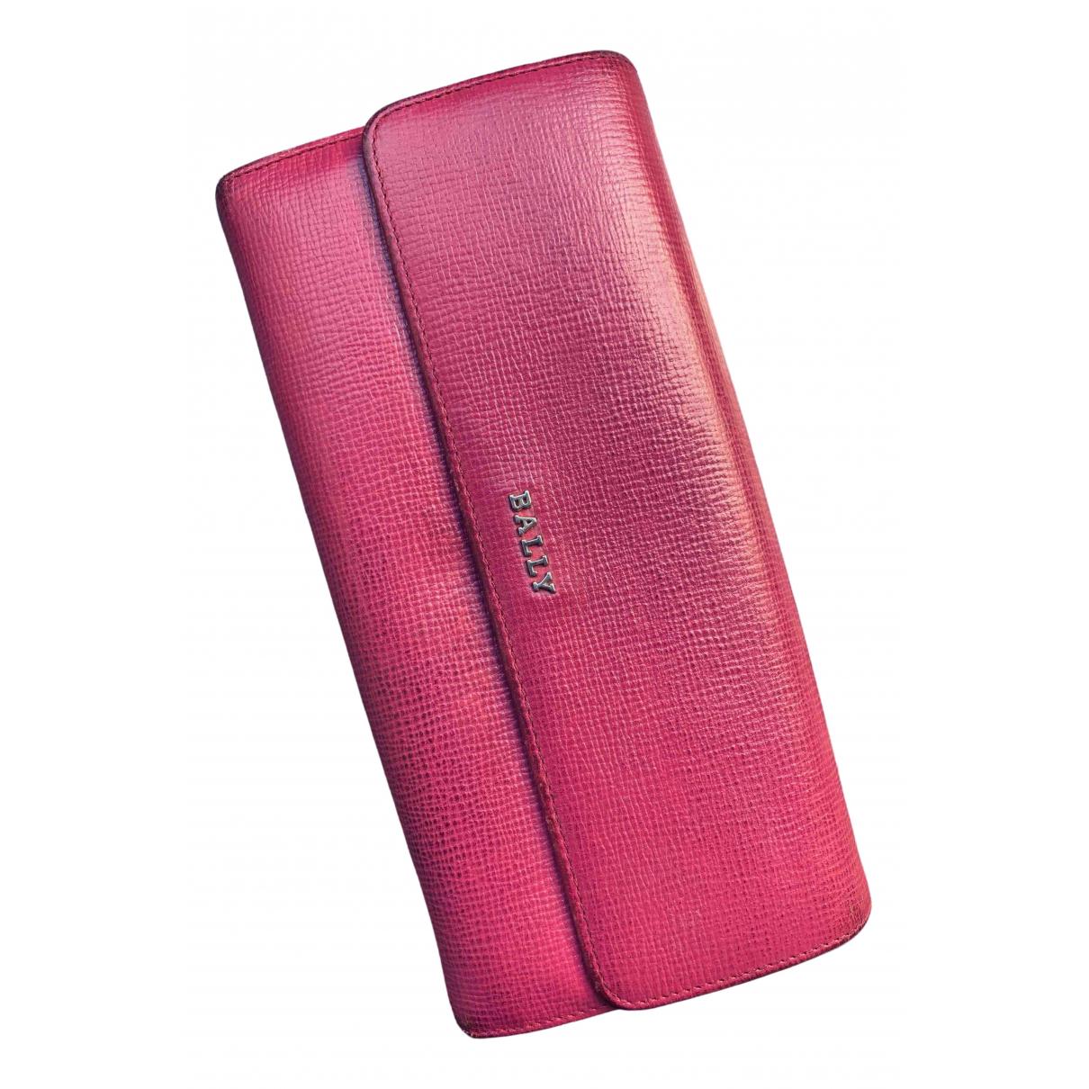 Bally - Portefeuille   pour femme en cuir - rose