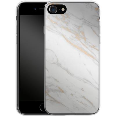 Apple iPhone 8 Silikon Handyhuelle - Gold Marble Elegance von #basic