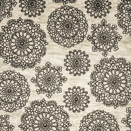 Acanthus Collection RG8136M 8' X 10' Area Rug with Power Loomed  0.38 Inch Latex Backing and Made of Nylon in Dark