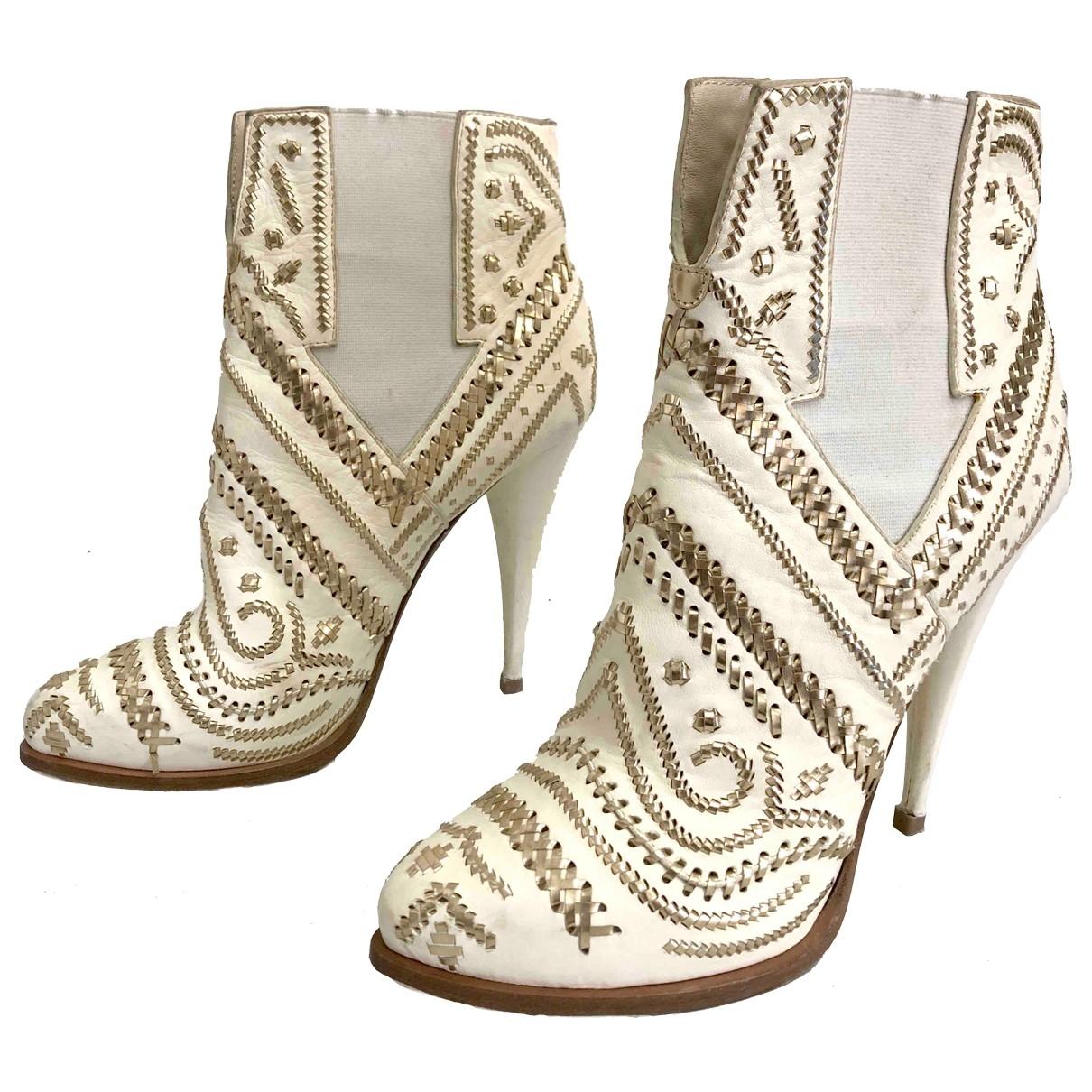 Givenchy - Boots   pour femme en cuir - multicolore