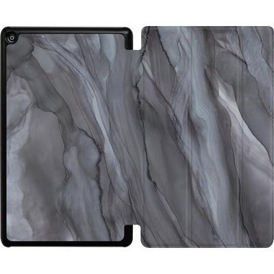 Amazon Fire HD 8 (2018) Tablet Smart Case - Black Watercolour Marble von Becky Starsmore