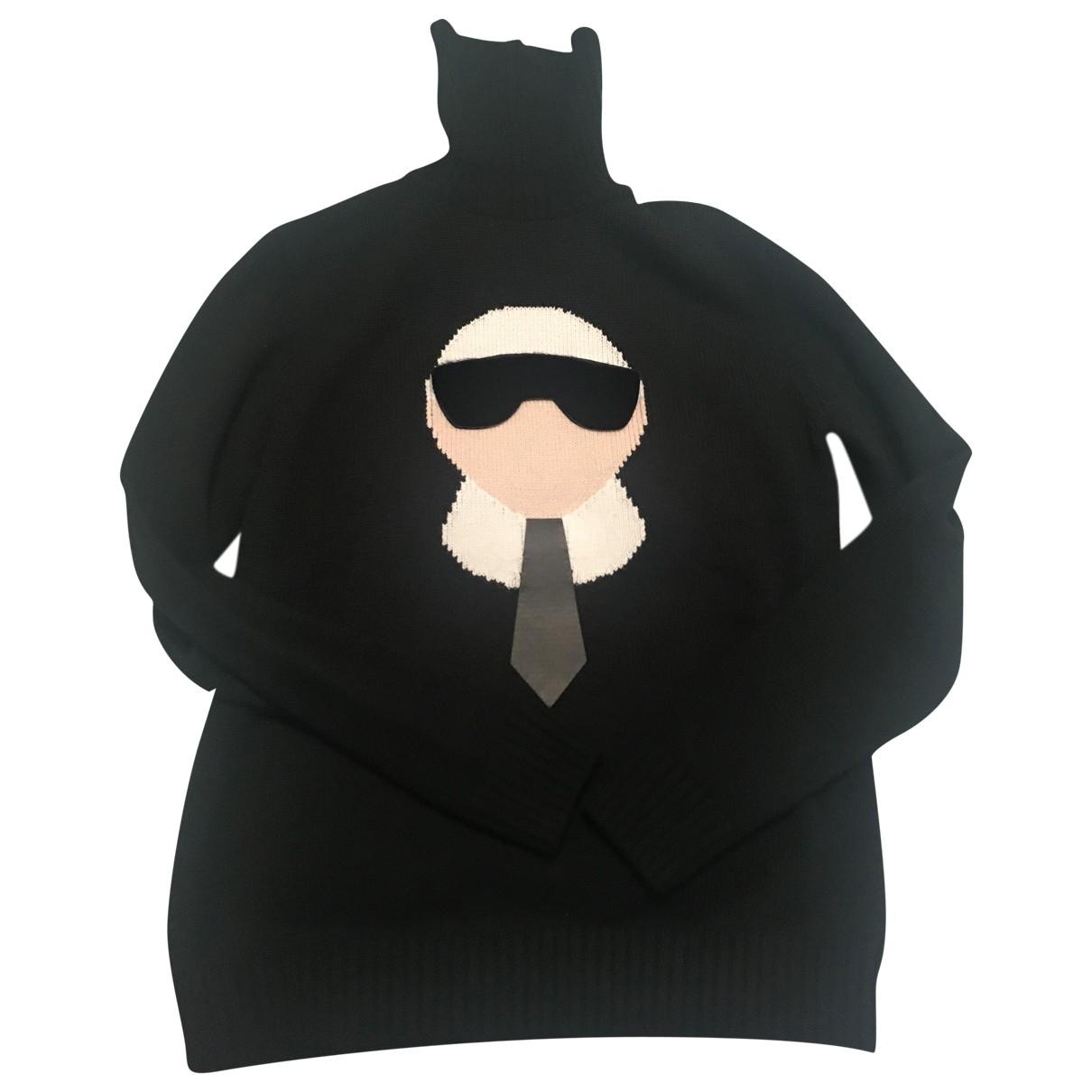 Fendi - Pull   pour femme en cachemire - noir