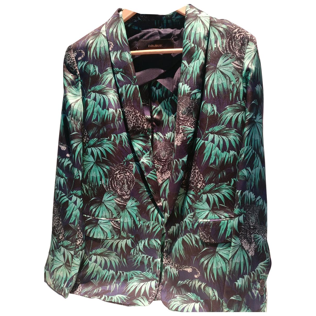 Chaqueta en Poliester Verde Zara