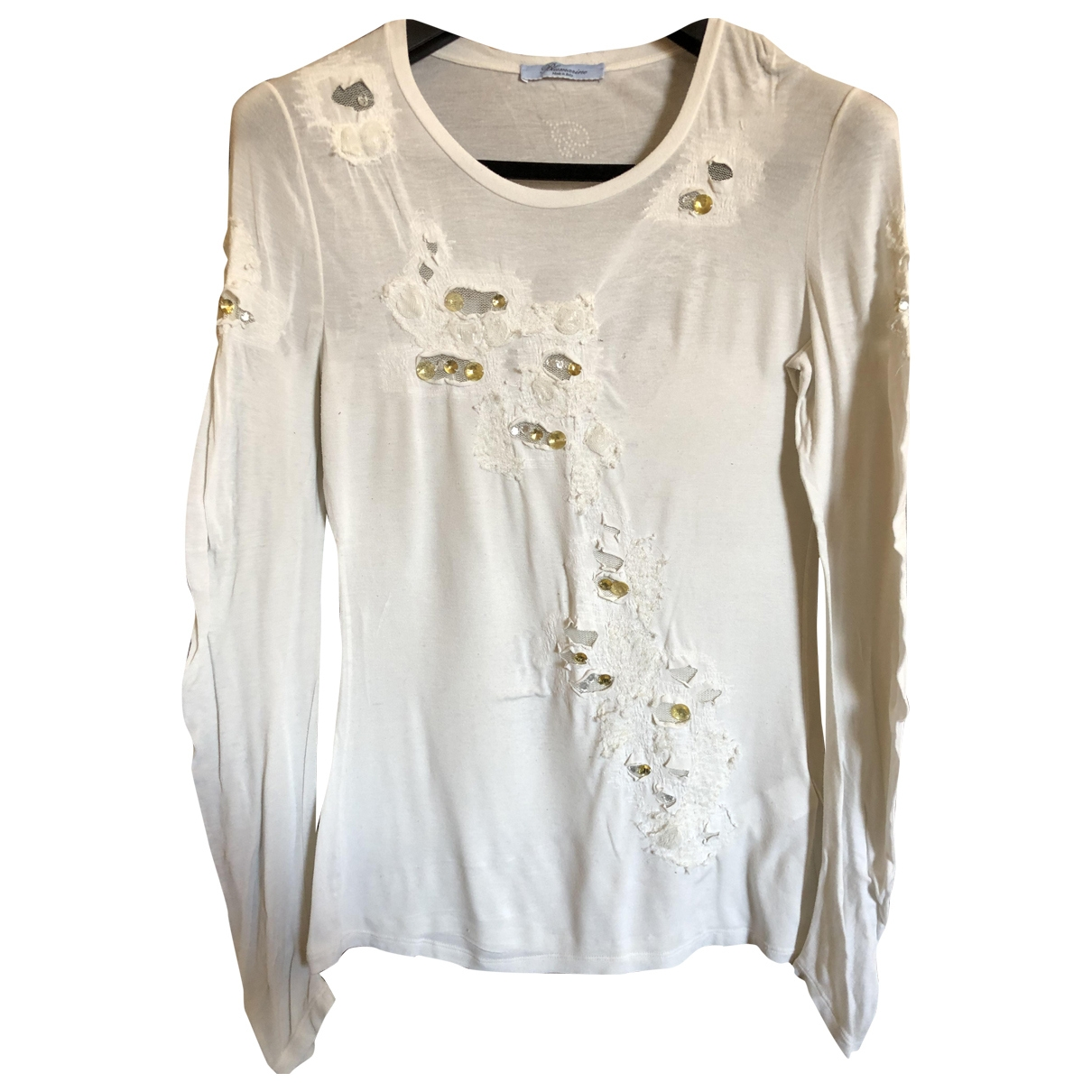 Blumarine \N White Cotton  top for Women 44 IT