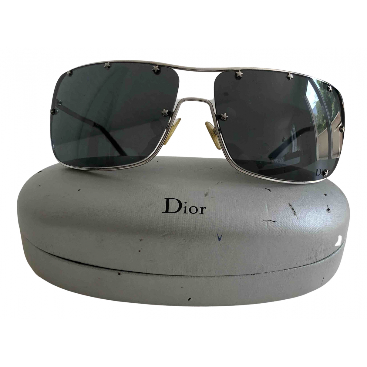 Dior \N Black Metal Sunglasses for Women \N