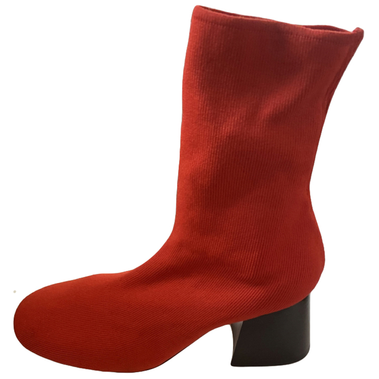 Celine \N Stiefel in  Rot Leinen