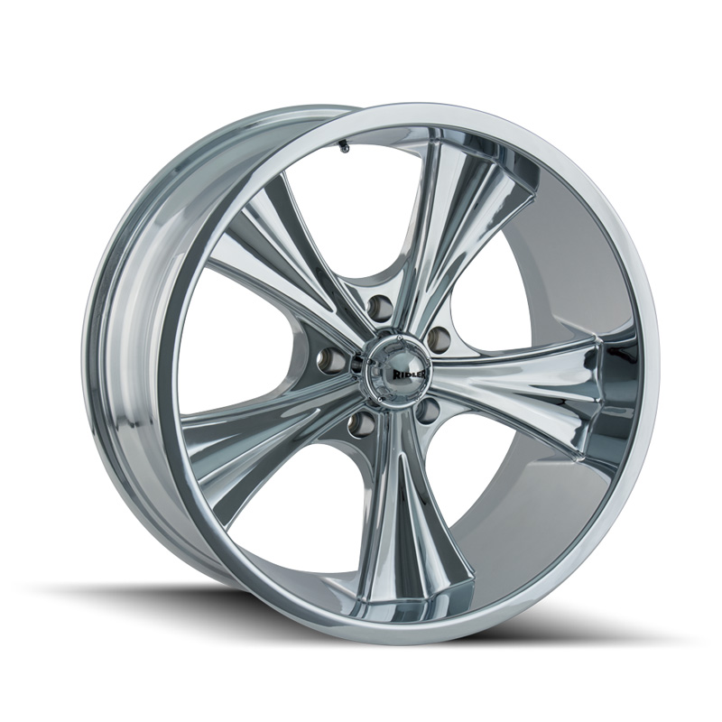 Ridler 651 Chrome 22x9.5 5x115 18mm 72.62mm Wheel