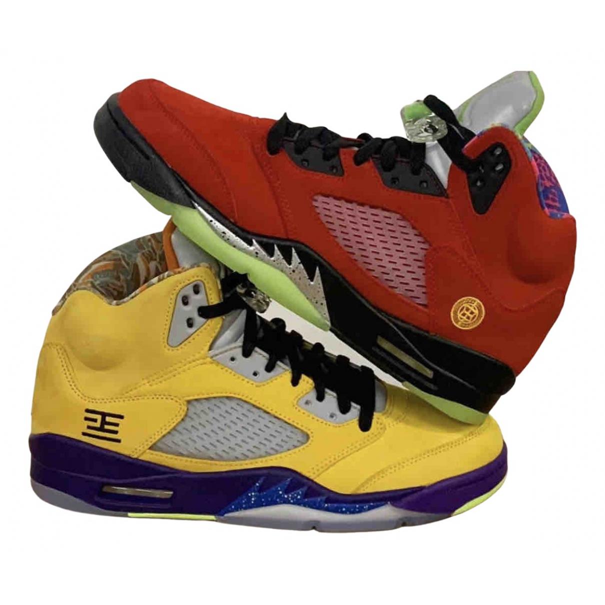Jordan - Baskets Air Jordan 5 pour homme en suede - jaune