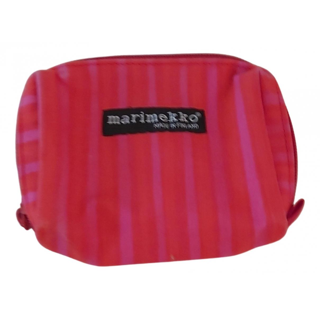Marimekko - Petite maroquinerie   pour femme en toile - rouge