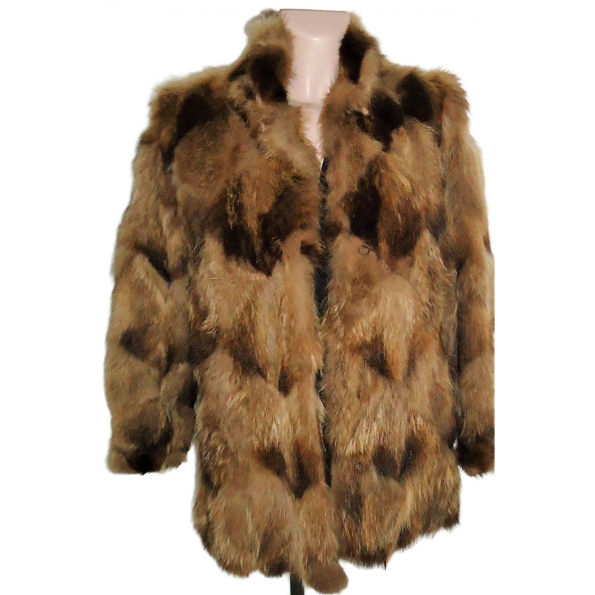Non Signé / Unsigned \N Brown Fur coat for Women 42 FR