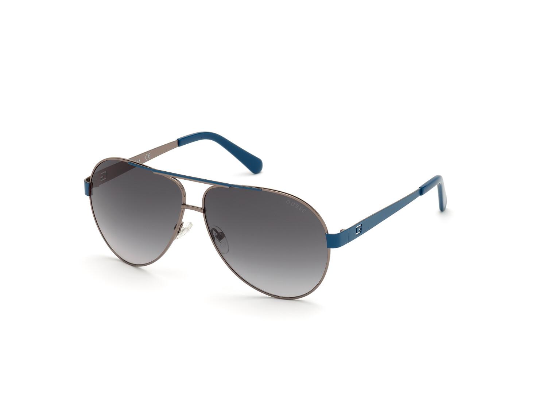 Guess Men's Mirrored Gu6969 GU6969-08C-61 Grey Round Sunglasses