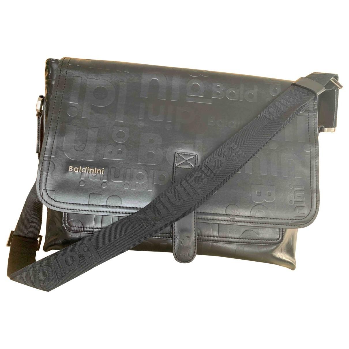 Baldinini \N Black Leather bag for Men \N