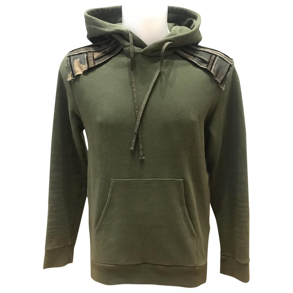 Balmain \N Green Cotton Knitwear & Sweatshirts for Men S International