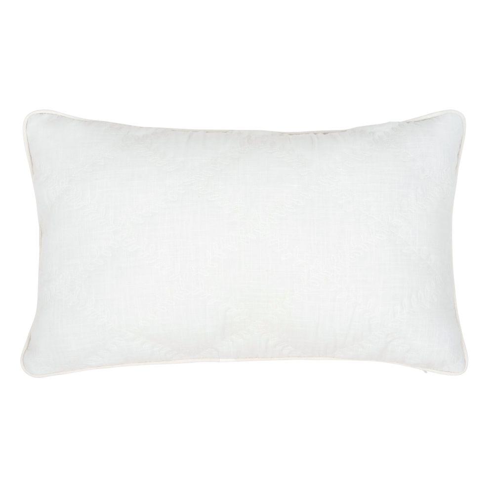 Kissenbezug aus Baumwolle, weiss mit Motiven 30x50