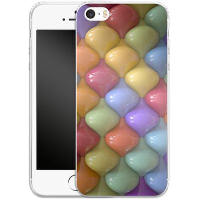 Apple iPhone 5s Silikon Handyhuelle - Oval Pattern von Danny Ivan
