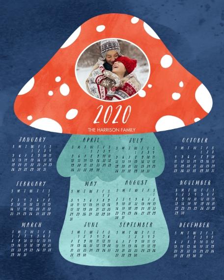 Calendar 16x20 Poster, Home Décor -Amanita Muscaria