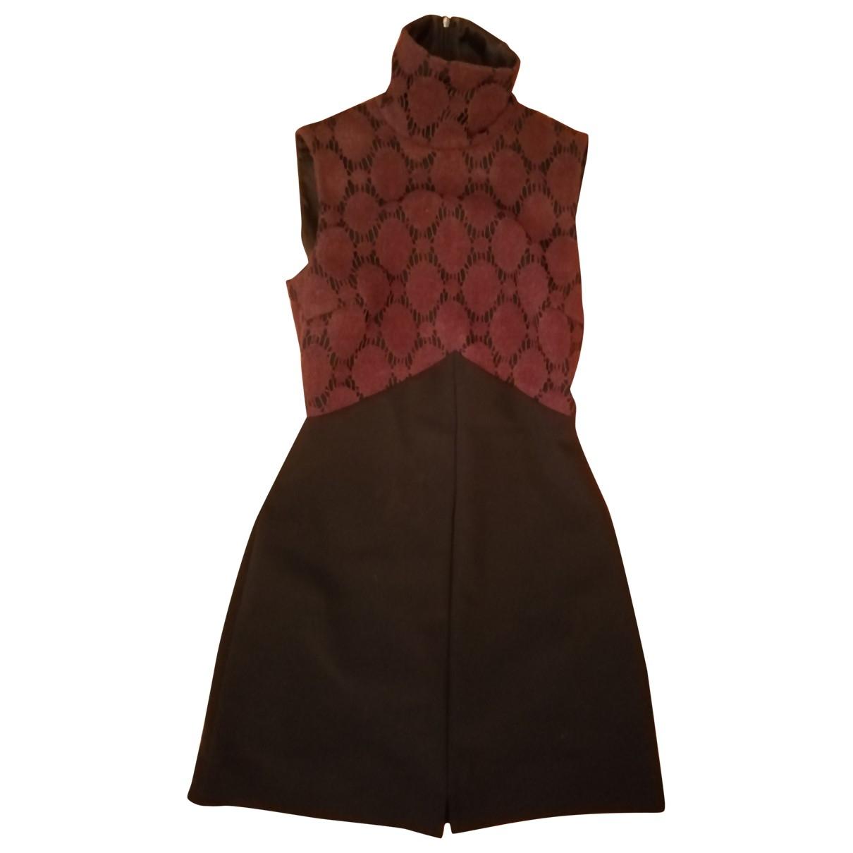 Karl Lagerfeld \N Kleid in  Schwarz Baumwolle - Elasthan